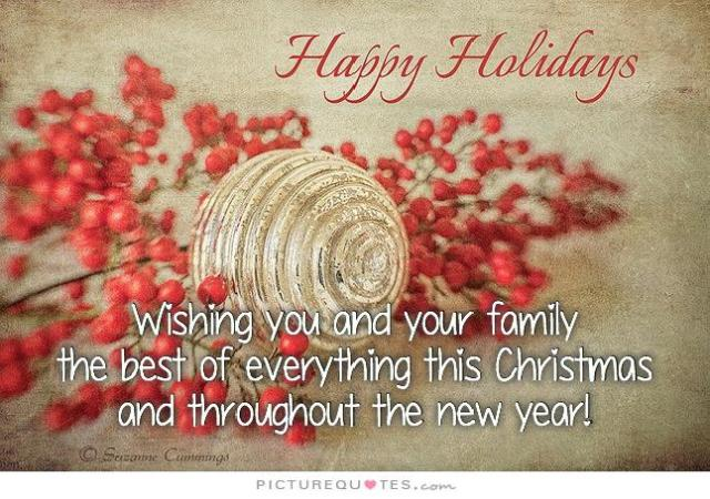 2014 Christmas Message. Happy Holidays
