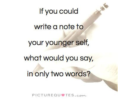 Write a note to yourself ...