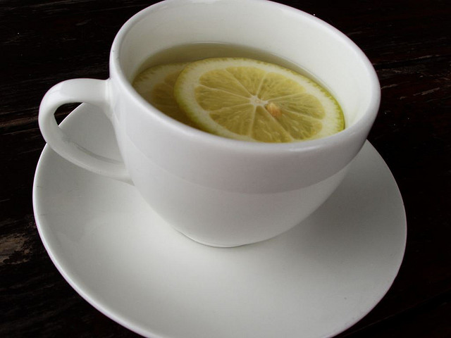 Cup of Hot Water with lemon